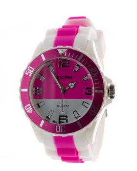 Gotcha Ladies Analogue Watch in Pink And White