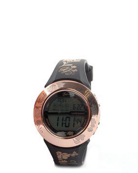 Gotcha Ladies Digital Watch in Rose Gold & Black