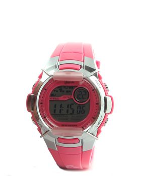 Gotcha Ladies Digital Watch in Pink & Silver