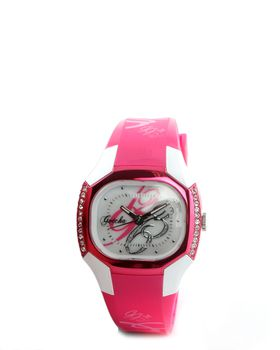 Gotcha Ladies Diamante Analogue Watch - Pink/White