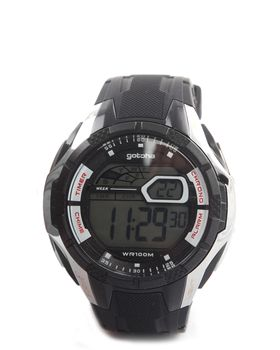 Gotcha Men's Digital Watch in Black & Silver