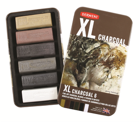 Derwent XL Charcoal - Tin of 6