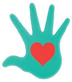 Pylones - Heart In Hand Aqua Trivet