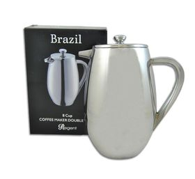 Regent - Coffee Maker Double Wall Stainless Steel Brazil - 1 Litre