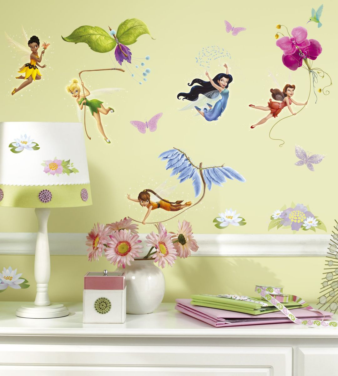 Roommates - Peel & Stick Decals: Disney Fairies Wall Decor ...
