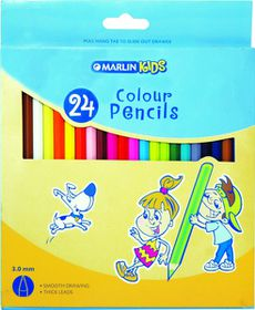 Marlin Kids 24 Colour Pencils
