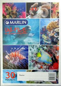 Marlin Uni-File A4 Soft Cover Display File - 30 Pocket
