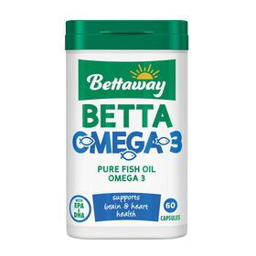 Bettaway Omega 3 Capsules - 60's