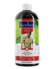 Herbex Attack The Fat Mix N Drink for Men Berry - 400ml