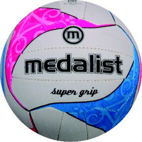 Medalist Super Grip Netball Ball Size 5 - Blue