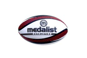 Medalist Revolution Rugby Ball Size 5 - Red and White