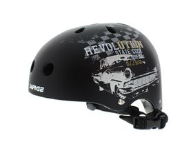 Surge Rival Skateboard Helmets - Black/Grey