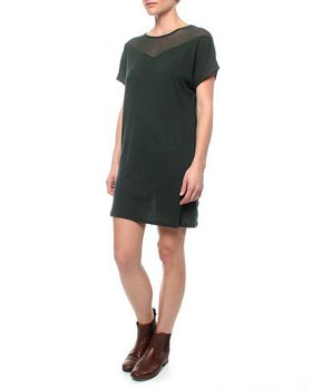 The Earth Collection Dress With Soft Neck Decoration - Hush