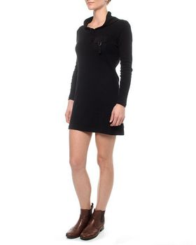 The Earth Collection Cowl Neck Tunic With Flap Pocket - Black