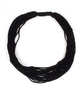 The Earth Collection Short Scarf, Neckless - Black Solid