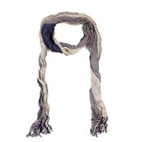 The Earth Collection Two-Layer Rustic Scarf - Sapphire