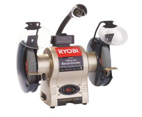 Ryobi - Bench Grinder 250 Watt With Light and Wheel Dresser - 150Mm