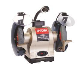 Ryobi - Bench Grinder 375 Watt H/D With Light and Wheel Dresser - 200Mm