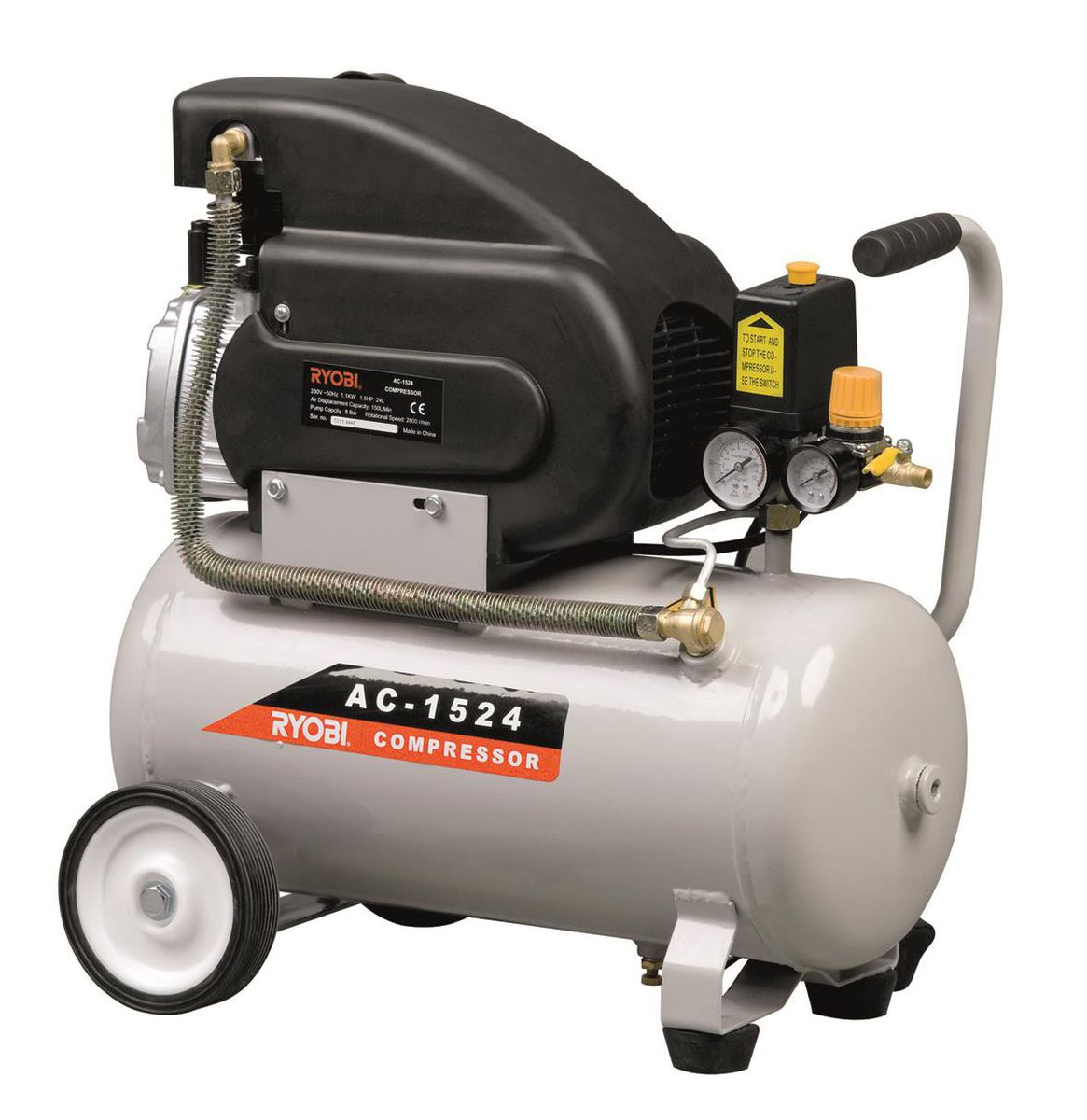 Ryobi Air Compressor 24l 1100w 1 5hp Buy Online In