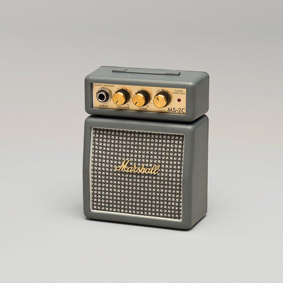 marshall ms2c micro amp series 1 watt portable electric guitar amplifier half stack vintage. Black Bedroom Furniture Sets. Home Design Ideas