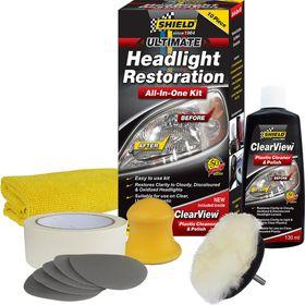 Shield - Headlight Restoration Kit - 10 Piece