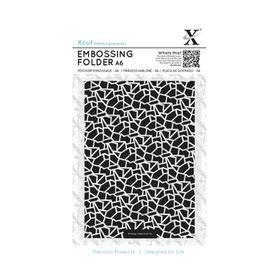Xcut A6 Embossing Folder - Cracked Tiles