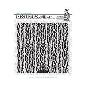 Xcut 6X6 Embossing Folder - Herringbone