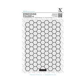 Xcut A5 Embossing Folder - Honeycomb