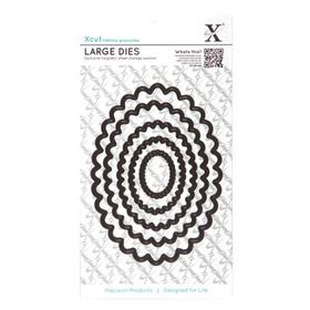 Xcut Nesting Dies - Scalloped Oval (5 Pieces)