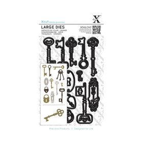 Xcut Large Dies - Locks and Keys (12 Pieces)