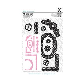 Xcut A5 Die Set - Naive Floral Borders (10 Pieces)