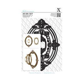 Xcut A5 Die Set - Ornate Frames Oval (3 Pieces)