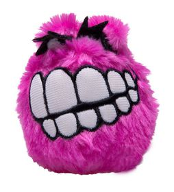 Rogz Fluffy Grinz Medium 6.5cm Dog Plush Squeak Toy - Pink