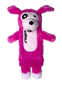 Rogz - Thinz Small 20cm Plush Refillable Squeak Dog Toy - Pink