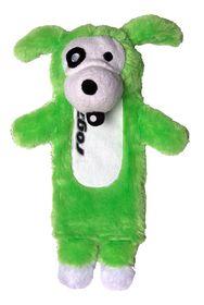 Rogz - Thinz Plush Medium Dog Toy - Green - 26cm