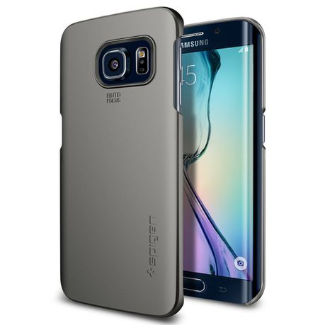 new style 624b5 b5cc2 Spigen Case Thin Fit for Samsung S6 Edge - Gunmetal | Buy Online in ...