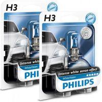 Philips White Vision H3 55w Headlight Bulbs