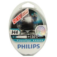 Philips X-Treme Vision H4 55/60w Headlight Bulbs