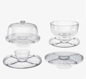 Consol - Casablanca 4-in-1 Glass Bowl