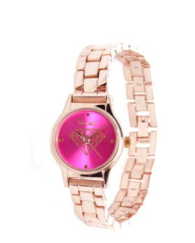 Bad Girl Rose Gold Metal Round Million Watch