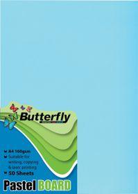 Butterfly A4 Pastel Board 50s - Blue