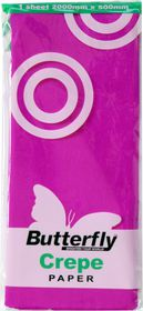 Butterfly Crepe Paper 1 Sheet - Magenta (C05)