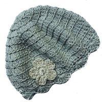 Buglets Crochet Beret - Stone