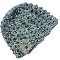 Buglets Crochet Scallops Beanie - Stone