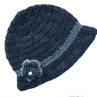 Buglets Crochet Cloche Hat - Storm