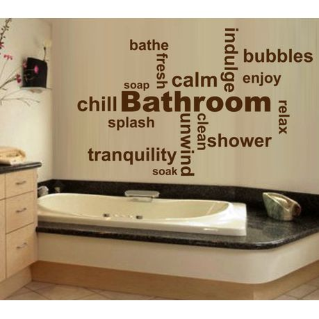 Vinyl Lady Bathroom Inspirational Words Wall Art Stickers Brown Buy Online In South Africa Takealot Com