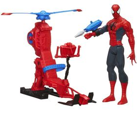 """Marvel ultimate Spider Man Titan Hero Series: Spider Man Figure With Web Copter 12"""""""