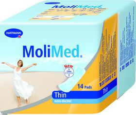 Molimed Premium Thin Anatomically Shaped Inco Pad With Adhesive Strip - 14