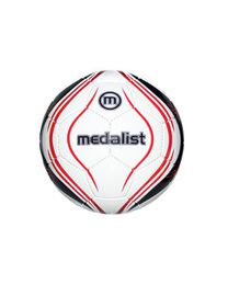 Medalist Club Soccer Ball - White/Red - Size 4