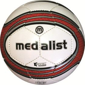Medalist Match Soccer Ball - White/Red - Size 4
